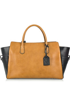 Reed Krakoff Bridle Two-Tone Leather Tote