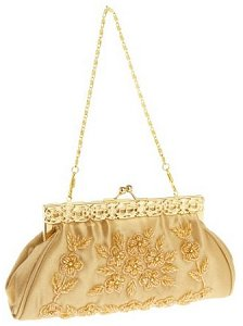 Savanna Satin Frame Clutch