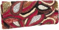 Timmy Woods Garbo Clutch | Beaded Straw Curl Purse