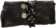 Tylie Malibu Gypsy Skinny Wrap Clutch | Beaded Black Leather Purse