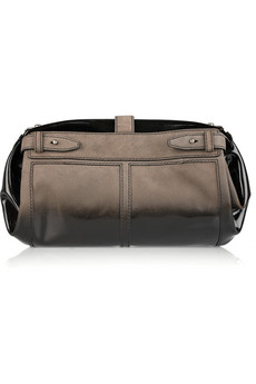 Alexander Wang Adele Suede And Patent Leather Fold-Over Trunk Clutch