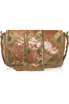Antik Batik Florine Sequined Suede Shoulder Bag