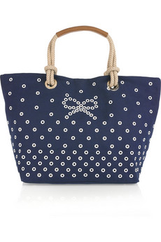 Anya Hindmarch Junie Embroidered Canvas Tote