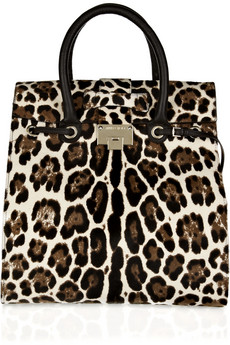 Jimmy Choo Rosabel Leopard Print Pony Hair Tote