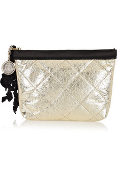 Lanvin Amalia Trousee Quilted Patent Leather Clutch