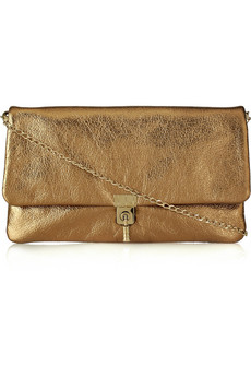 Lanvin Sac Oulouette Textured Leather Clutch