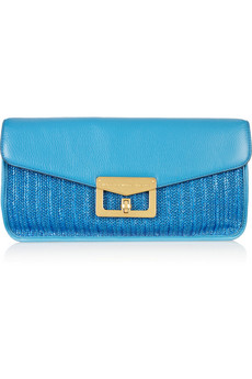Marc By Marc Jacobs Bianca Dreams Of Monte Carlo Raffia And Leather Clutch
