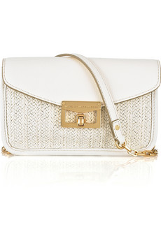 Marc By Marc Jacobs Jane On A Chain Leather And Raffia Shoulder Bag