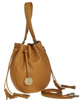 Alla Leather Art Sharlet Bucket Bag