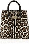 Jimmy Choo Rosabel Leopard Print Pony Hair Tote | Dramatic Animal Print Bag