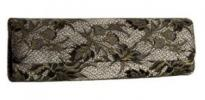 Inge Christopher Ann Baguette Clutch | Long Black Lace Evening Purse