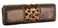 Whiting & Davis Crystal Clusters Clutch | Chunky Gem Accented Mesh Purse