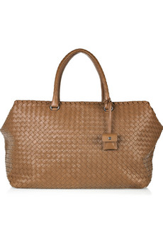 Bottega Veneta Brick Intrecciato Leather Weekend Bag