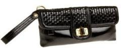 Elliott Lucca Adele Clutch | Woven Leather Turnlock Wristlet