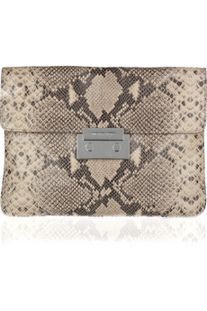 MICHAEL Michael Kors Sloan Oversized Python Effect Leather Clutch
