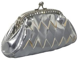 J. Furmani Woven Metallic Clutch
