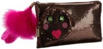 Felix Rey Happy Diamond Clutch | Cute Silly Mesh & Feather Purse
