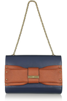 Chloe June Bow Embellished Leather Shoulder Bag