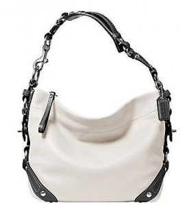 Coach Leather Carly Shoulder Hobo Bag Purse Handbag