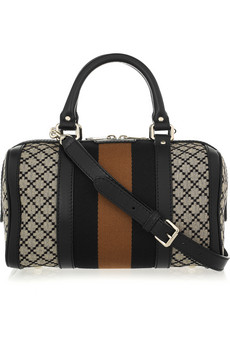 Gucci Bsoton Diamante Print Canvas Duffel Bag