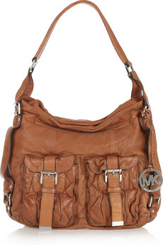 MICHAEL Michael Kors Princeton Washed Leather Shoulder Bag