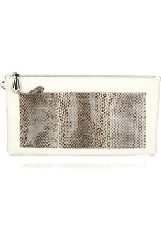 Reed Krakoff Python Detailed Leather Clutch