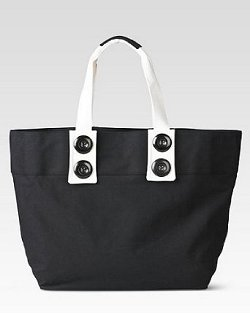 Spiegel Button Trim Canvas Bag