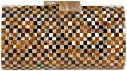 Serpui Marie Checkerboard Purse | Complex Luxury Shell Clutch