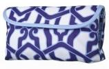 Sonia Kashuk for Target Geo Foldover Clutch | Blue & White Retro Patterned Nylon Purse