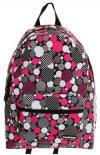 Yak Pak Optical Dot Patterned Backpack | Practical Pink Spot School Bag