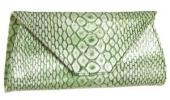 Zara Terez 54th Street Clutch | Green Crocodile Embossed Leather Purse