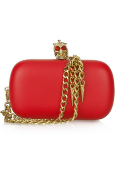 Alexander McQueen Military Skull Leather Box Clutch