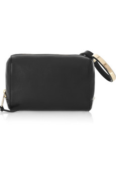 Chloe Wristlet Leather Clutch