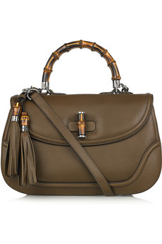 Gucci Large New Bamboo Leather Shoulder Bag
