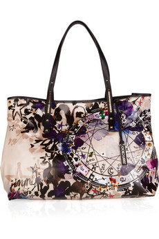 Jimmy Choo Printed Glazed Canvas Tote
