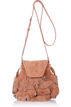 See By Chloe Fluffy Cherry Party Small Suede Shoulder Bag