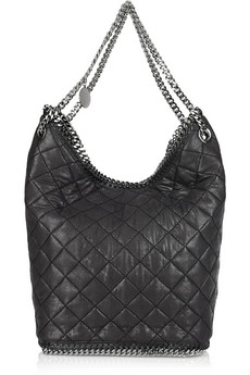 Stella McCartney Falabella Quilted Faux Leather Bucket Bag