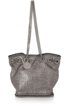 Stella McCartney Metallic Boucle Mini Bucket Bag