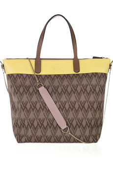 Valentino Jacquard And Leather Tote