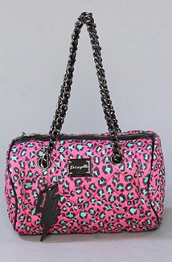 Betsey Johnson Cheetah Time Barrel Bag
