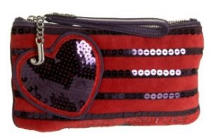 Juicy Couture Sequin Stripe Wristlet
