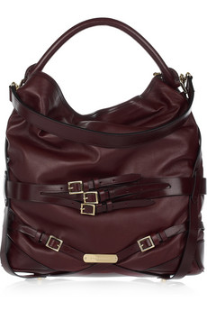 Burberry Buckled Leather Hobo Bag