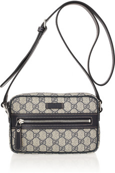 Gucci Monogram Canvas And Leather Shoulder Bag