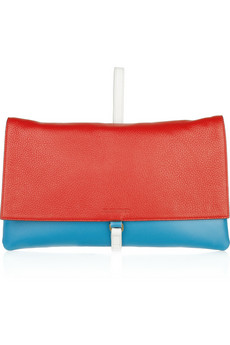 Jil Sander Two-Tone Leather Clutch