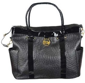 Baby Phat Ostrich Diaper Tote