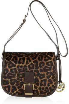 MICHAEL Michael Kors Leather And Calf Hair Saddle Bag