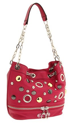 Betsey Johnson Button Party Bucket Bag