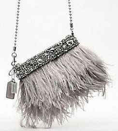 Coach Poppy Ostrich Feather Purse