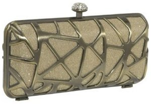 J Furmani Hardcase Shinny Clutch