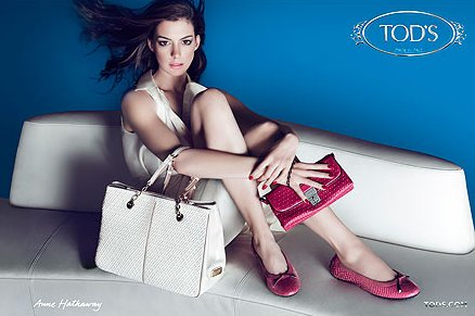 Anne Hathaway Tod's Signature Collection Ad